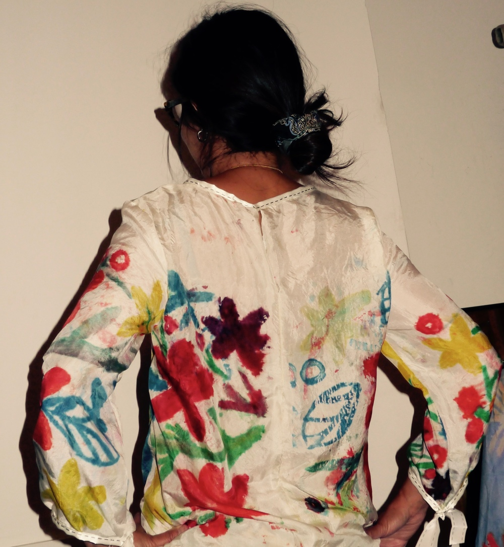 back view of my mono print top